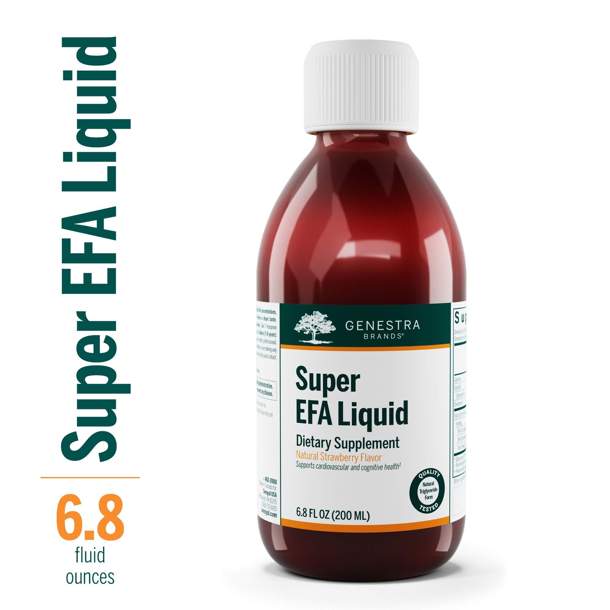 Genestra Brands - Super EFA Liquid - EFA Supplement to Support Cardiovascular, Brain, Eyes, and Nerves* - Natural Strawberry Flavor - 6.8 fl oz (200 ml) by Genestra Brands