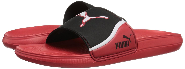 Amazoncom  PUMA Mens Cat Slide TS Sandal High Risk RedBlackWhite 4 M  US  Sandals