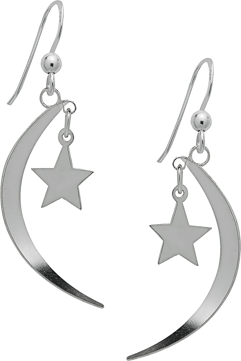 The stars and the moon are yours Long Drop Earrings 925 solid Sterling Silver 1 pair Jewelry Earrings gift for hermomgirlgirlfriend