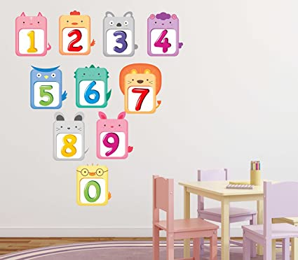 Luke and lilly numbers123 design vinyl wall sticker 70