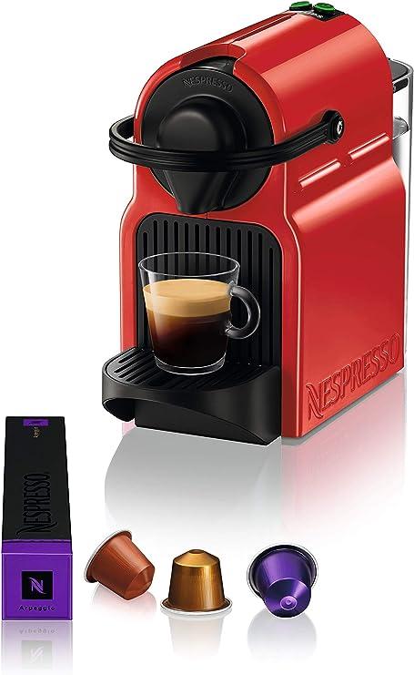 Máquina de cápsulas de café Krups Nespresso Inissia, color rojo ...