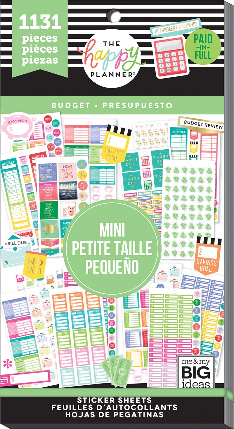 The Happy Planner -Value Pack Stickers - Mini Budget