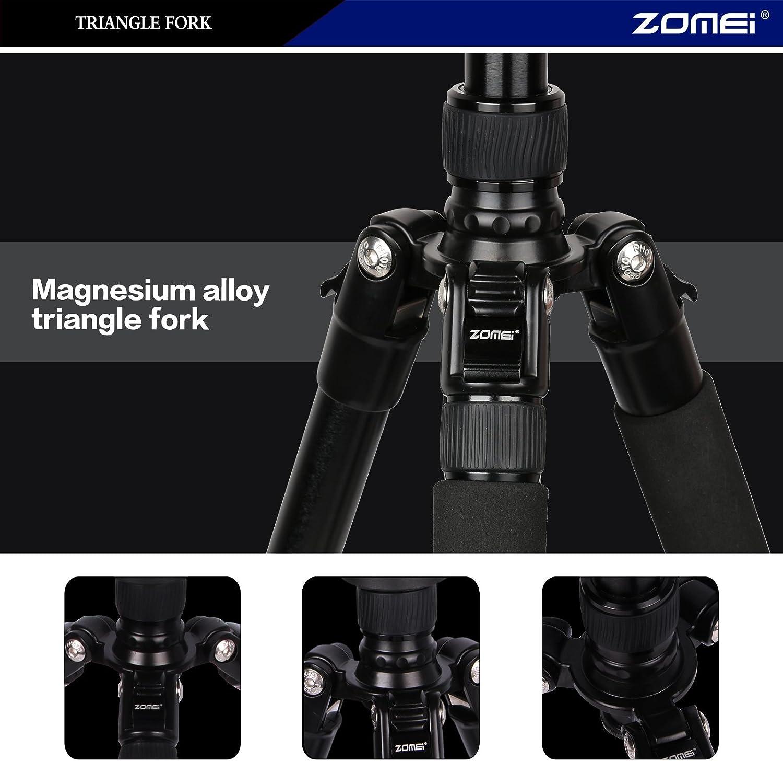 Zomei Compact Portable Q666 Aluminium Digital Tripod Monopod Stand with Ball Head for All Canon Sony Nikon Samsung Panasonic Olympus Kodak Fuji Camera and Camcorder