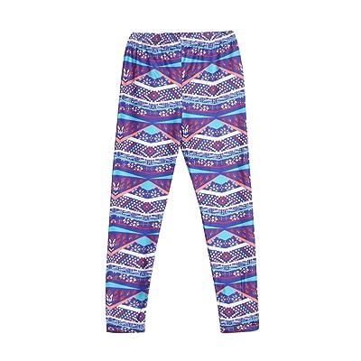 amazingdeal Parent-Child Pants Mom Baby Floral Print Trousers Soft Cotton Leggings