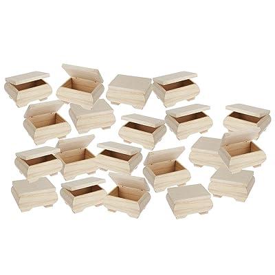 20 boîtes en bois, renflées, 11 x 8 x 6 cm, Gros acheteurs VBS