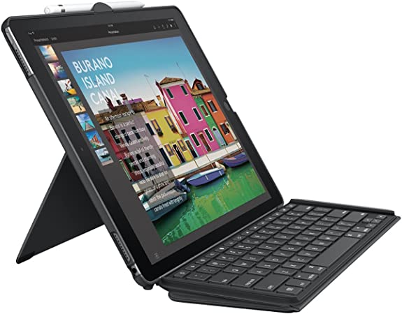 Amazon Com Logitech Ipad Pro 12 9 Inch Keyboard Case Slim Combo With Detachable Backlit Wireless Keyboard And Smart Connector Black Computers Accessories