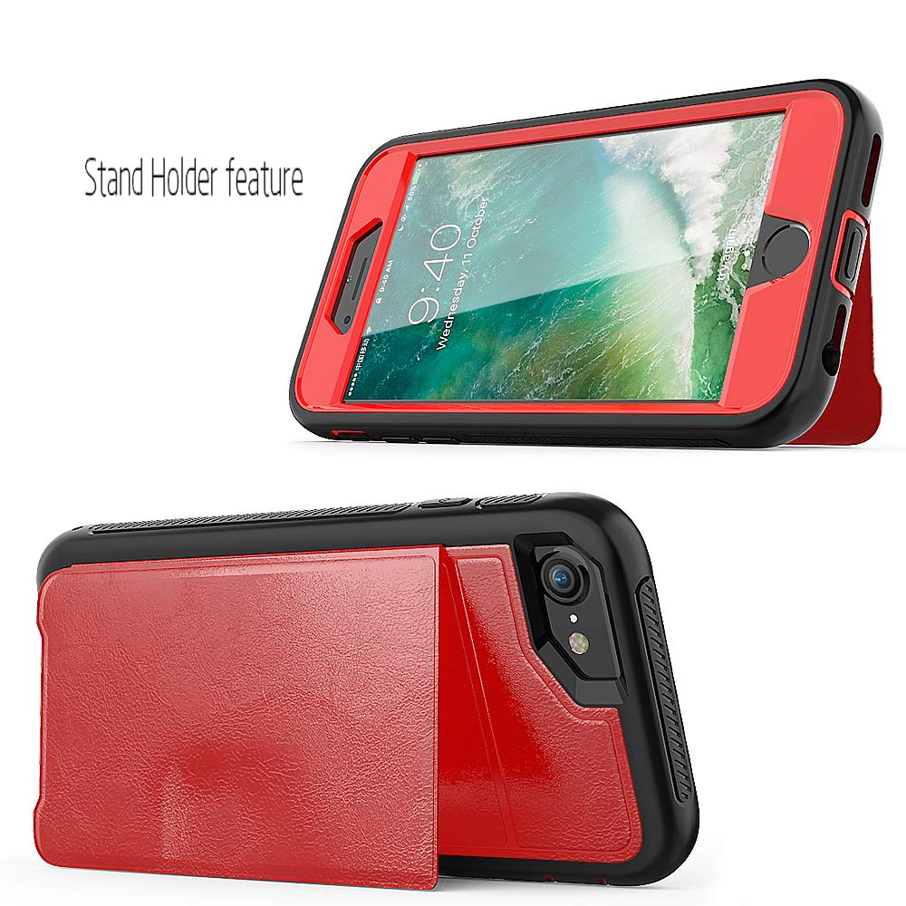 iPhone 8 Case for iPhone 8//7//6//6S 4.7 iPhone 7 Case,iPhone 6 Case iPhone 6s Case ZERMU PU Leather Shockproof Leather Back Cover Flip Wallet with Card Slot Compatible with Magnetic car Mount