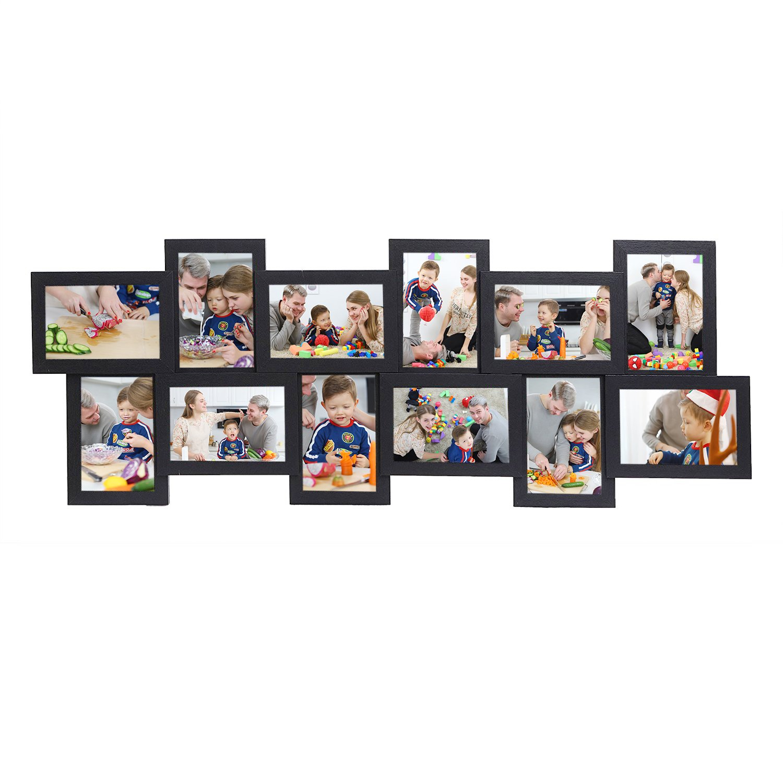 SONGMICS Bilderrahmen Collage für 12 Fotos je 10 x 15 cm Fotorahmen ...
