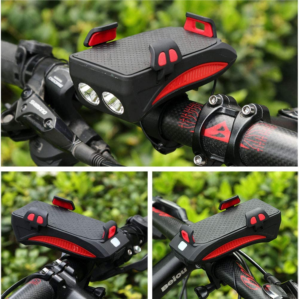 4 in 1 Bicycle Light Mobile Phone Holder Charging Phone Holder Lighting DHL a