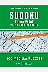 Sudoku Large Print Puzzle Book for Adults: 200 Medium Puzzles (Puzzle Books Plus) Paperback
