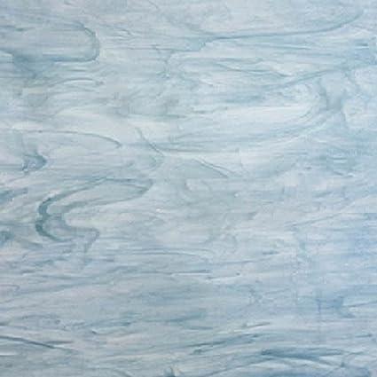 8 X 12 Spectrum Dark Blue//white Stained Glass Sheet .67sf