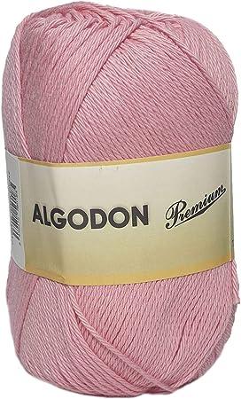 Hilo Acrílico Ovillo de Lana Algodón Premium perfecto para DIY y tejer a mano (Color Rosa Chicle 100 g, aprox. 220 metros): Amazon.es: Hogar