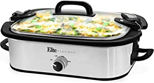 Maxi-Matic MST-5240SS Casserole Slow Cooker, 3.5Qt Capacity, Stainless Steel