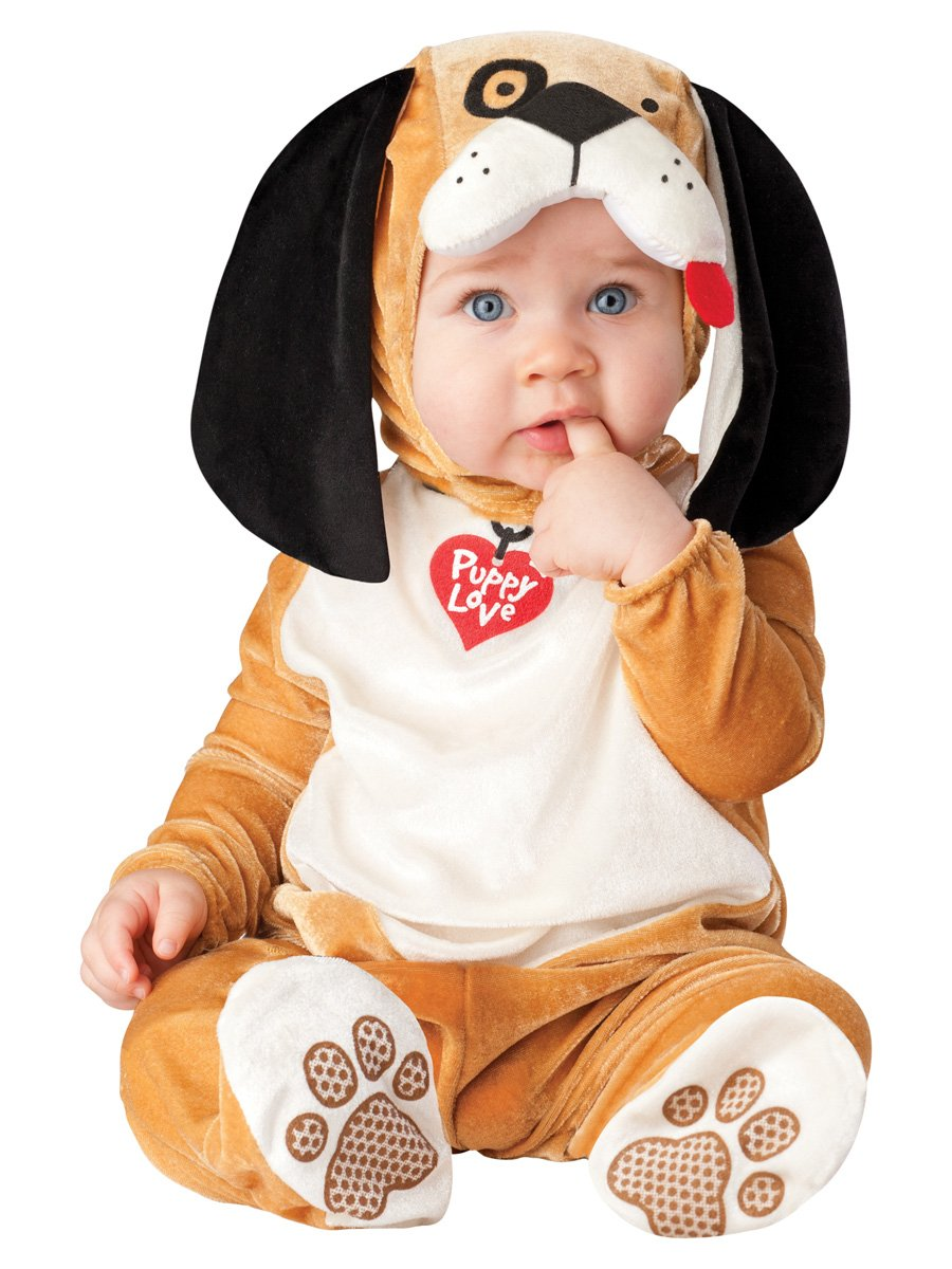 InCharacter Costumes Baby's Puppy Love Costume, Tan/White/Black, Small