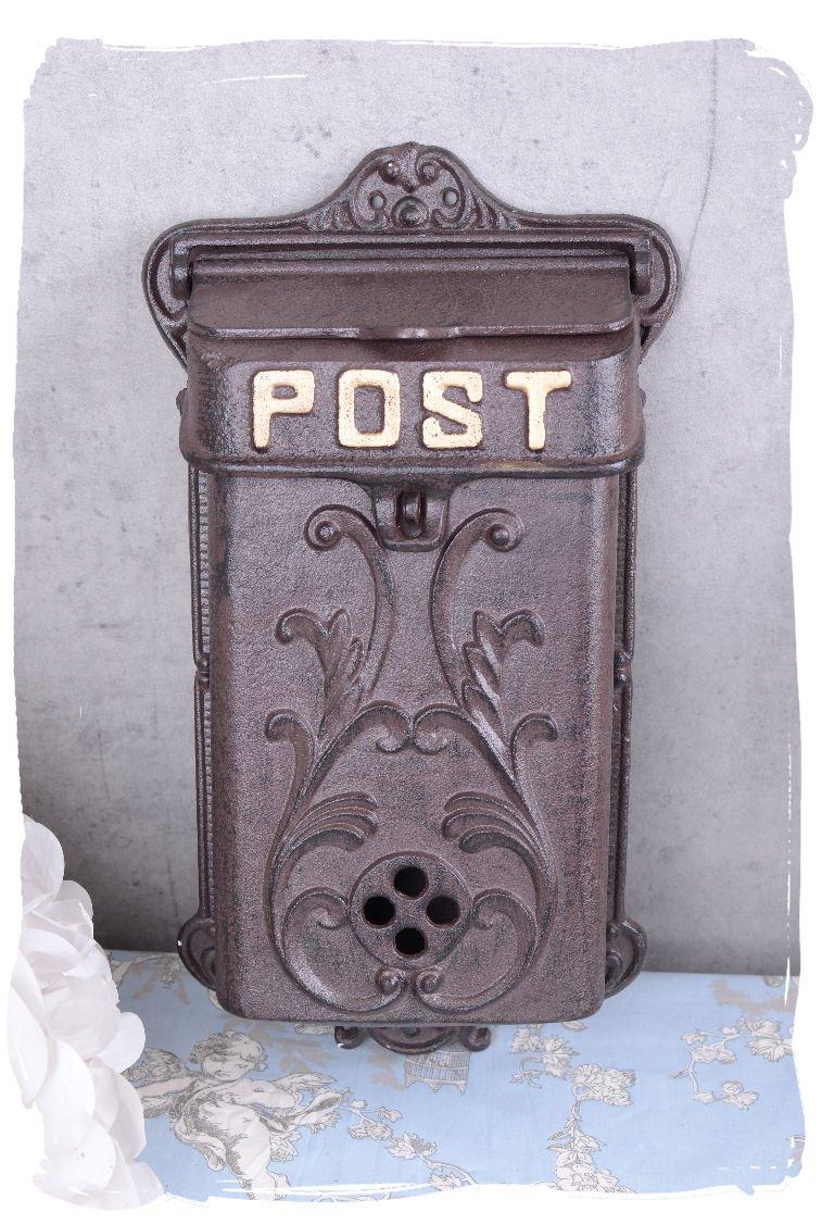 schöner Nostalgie Postkasten Wand-Briefkästen antik-braun Briefkasten mit Pferd