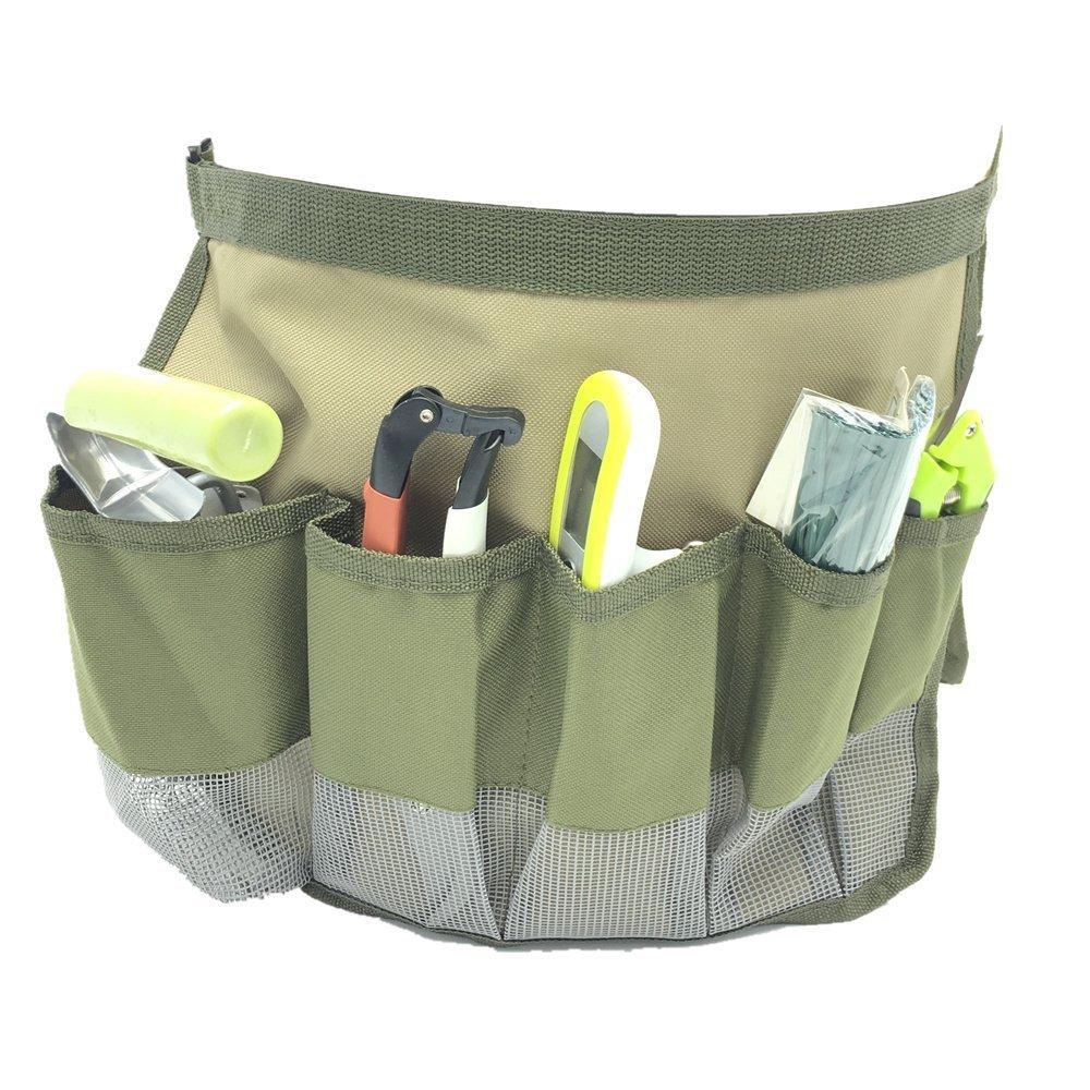 HYINDOOR Garden Bucket Caddy Tool Bags Gardening Tool Organizers Hardware Tools Kit Bag 10 Pockets
