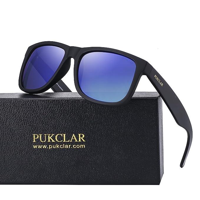 Amazon.com: PUKCLAR Retro Polarizado Wayfarer Gafas de sol ...