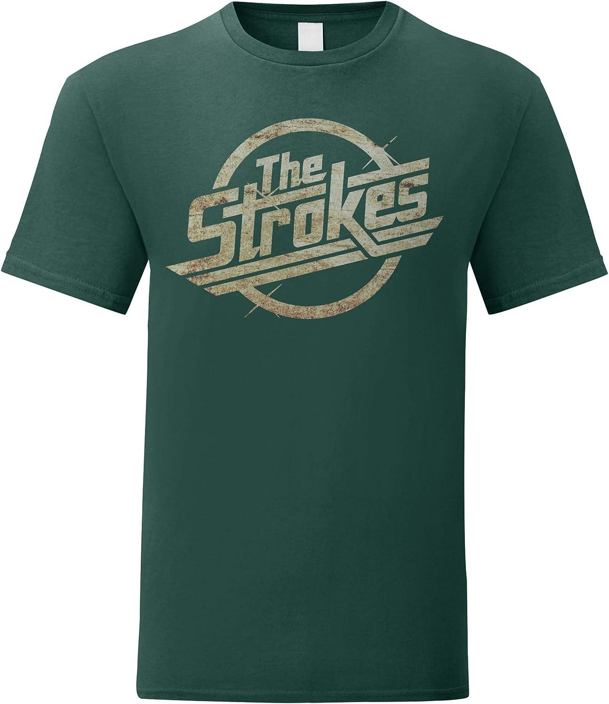 LaMAGLIERIA Camiseta Hombre The Strokes - Grunge Logo t-Shirt Indie Rock 100% algodòn: Amazon.es: Ropa y accesorios