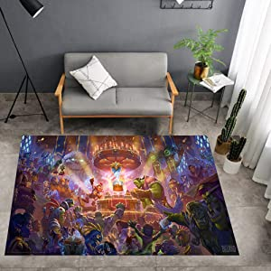 """Lee My Super Soft Indoor Carpet Area Rugs World of Warcraft Wrath of The Lich King Posters Carpet Suitable for Children's Bedroom Patio Apartment Kids Room,a,20""""x32""""/1.6'x2.6'"""