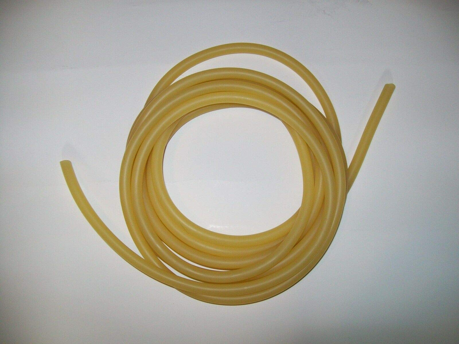 5 Feet 3/8'' I.D x 1/32'' Wall Latex Rubber Tubing Amber Thin Wall by Latex Tubing By Montree Shop