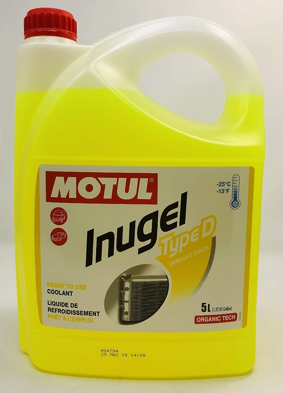MOTUL Anticongelante Refrigerante Especial Motores Renault Inugel Type D, 5 litros: Amazon.es: Coche y moto