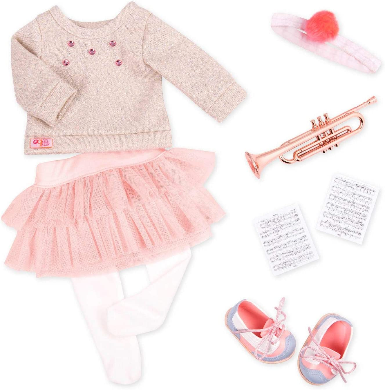 Our Generation by Battat - Fashion Notes Outfit - Deluxe Musical Outfit & Accessory Set with Trumpet for 18