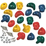 20 x Multi-coloured Rock Climbing Stones Mega Pack - heavy duty climbing foot holds for playhouse/tree house/climbing frame