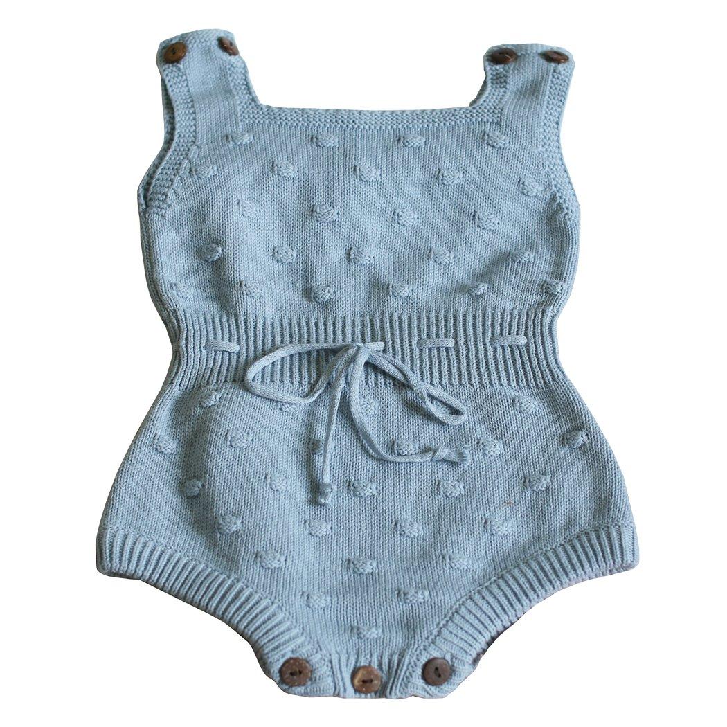 人気激安 Wennikids Large 赤ちゃん 男の子と女の子 ニットセーター かぎ針編みロンパー/ ハイハイ用衣服 B06XC3WPY4 ブルー Large ニットセーター/ 13-18M Large/ 13-18M|ブルー, 激安輸入雑貨店:5942ba64 --- svecha37.ru