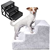 LAZYMOON White Pet Easy 3 Steps for Puppy Kitten Small Animals up to 55 lbs