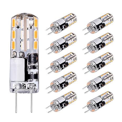 Luma G4 Bombillas LED, luz blanca cálida 2700 K, 1,5 W de repuesto 10 ...