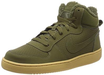 2c7754288ee177 Nike Jungen Kinder Sneaker Court Borough Mid Winter Fitnessschuhe  Mehrfarbig Olive Canvas 300