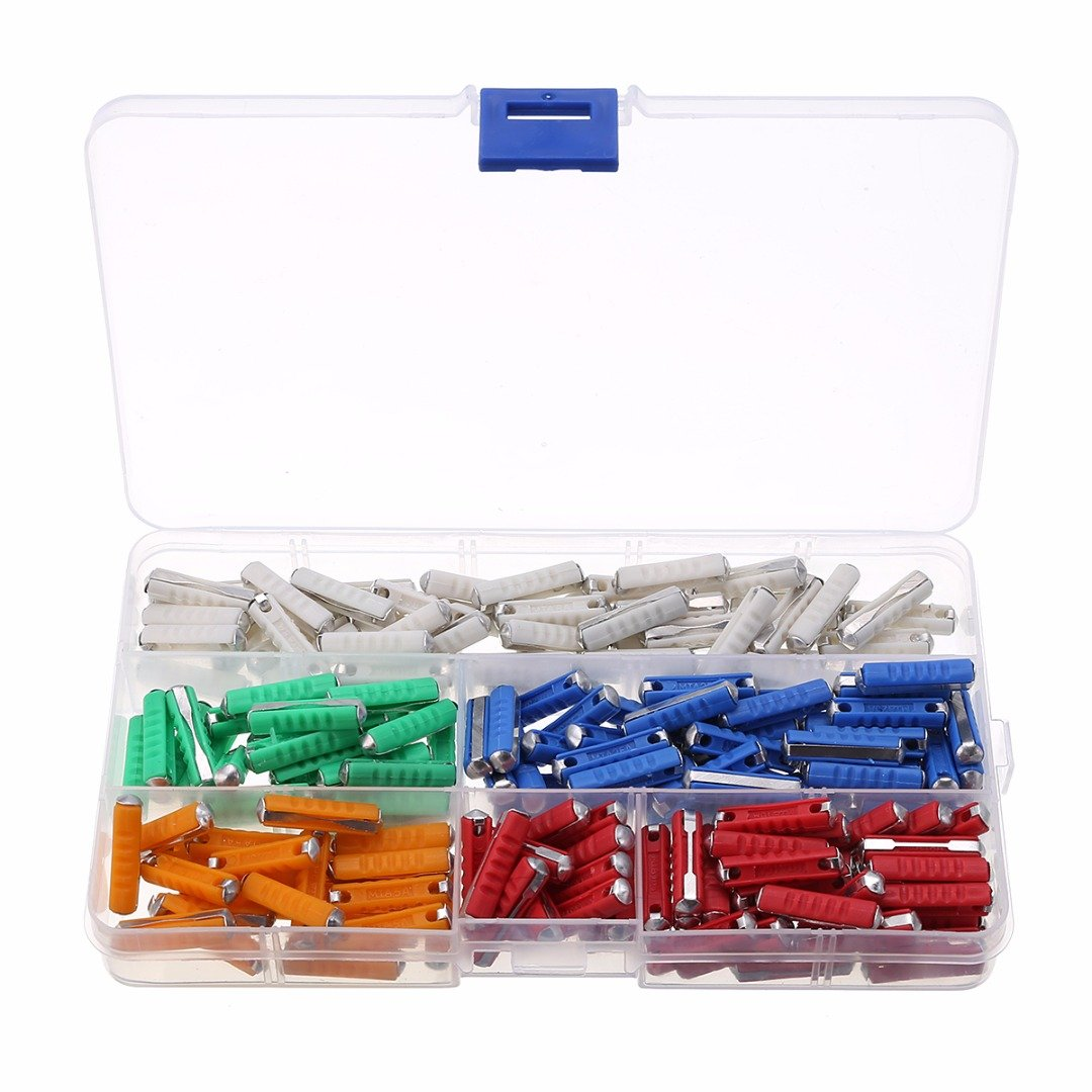 200Pcs Continental Ceramic Torpedo Fuses Replacement Kit Box Mayitr