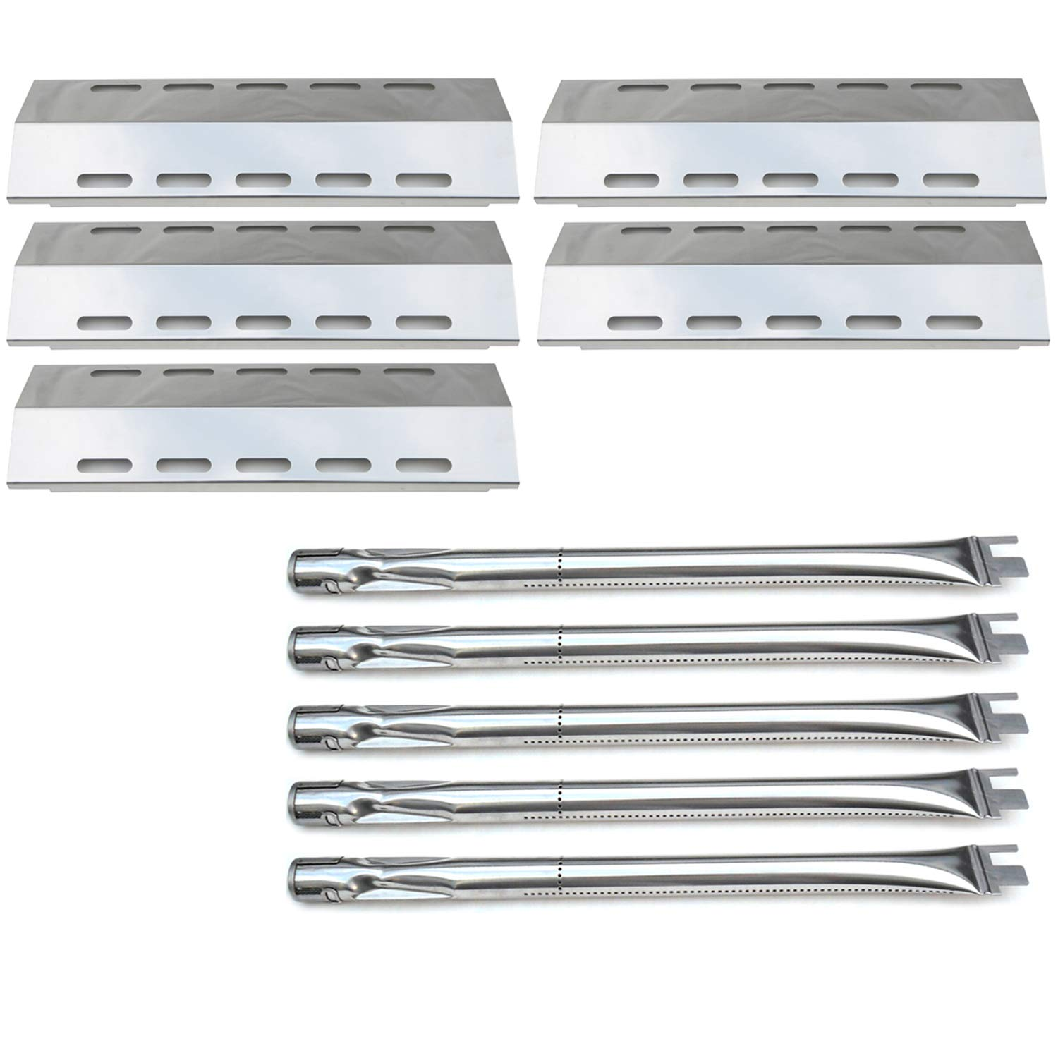 Direct store Parts Kit DG257 Replacement Ducane 5 Burner 30500701/30500097 Gas Grill Repair Kit Stainless Steel Burners & Heat Plates by Direct store