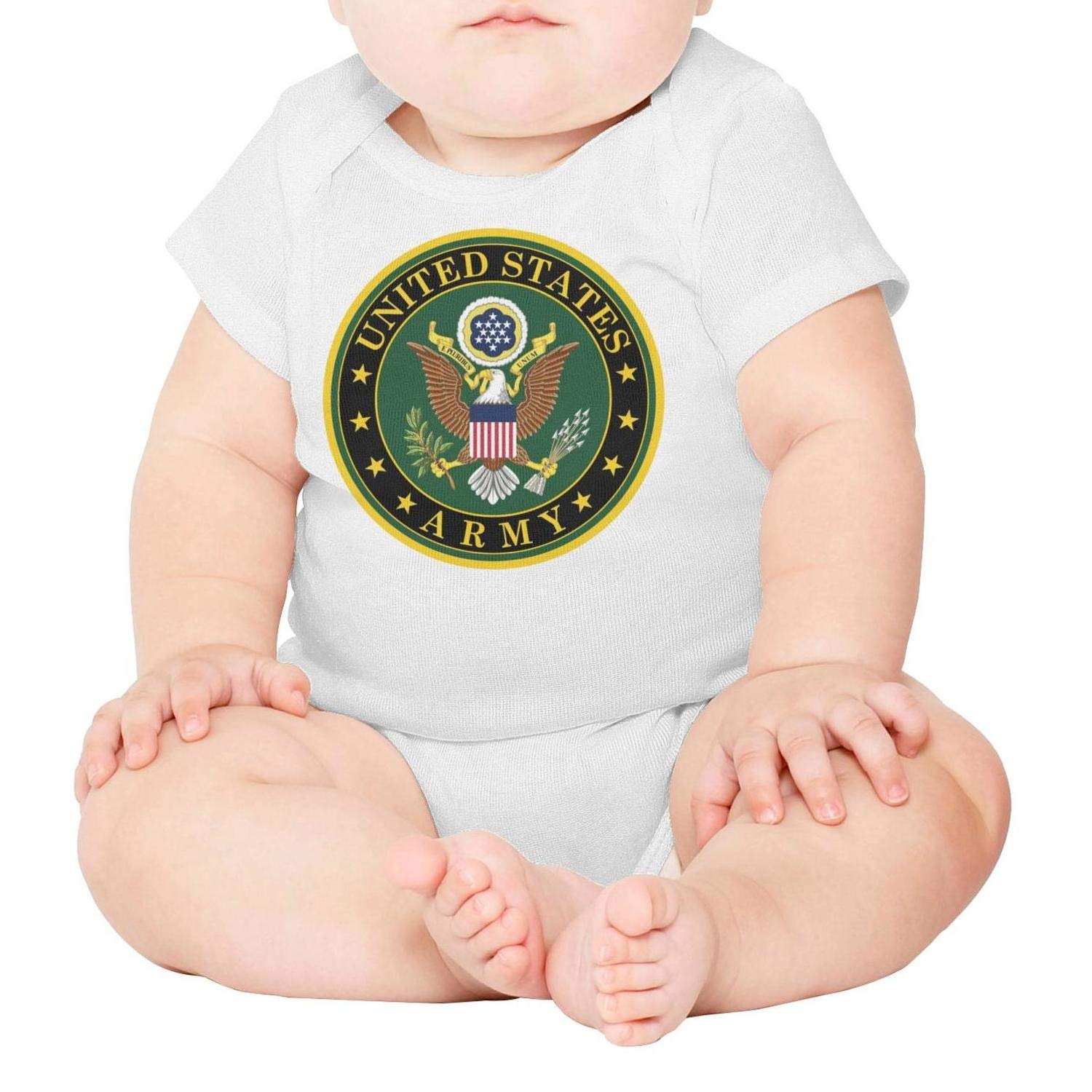 Armed Forces Day Military Service Mark of The United States Army Baby Onesies Bodysuit Organic One-Piece Cotton Short Sleeve