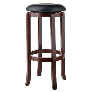 Sensational Winsome Walcott Swivel Bar Stool 30 Walnut Lamtechconsult Wood Chair Design Ideas Lamtechconsultcom