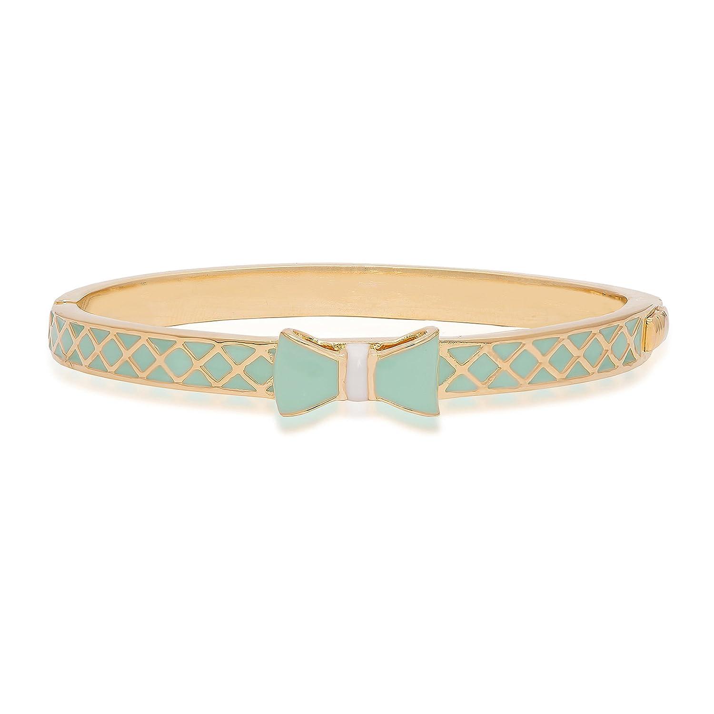Lily Nily Girls Mint Green Lattice Bow Bangle Bracelet