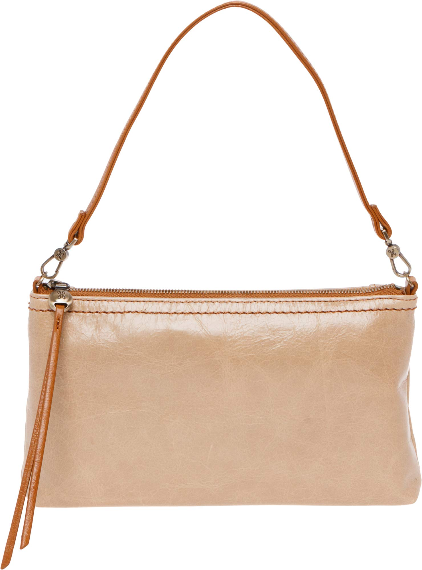 Hobo Womens Leather Vintage Darcy Convertible Crossbody Bag (Parchment)