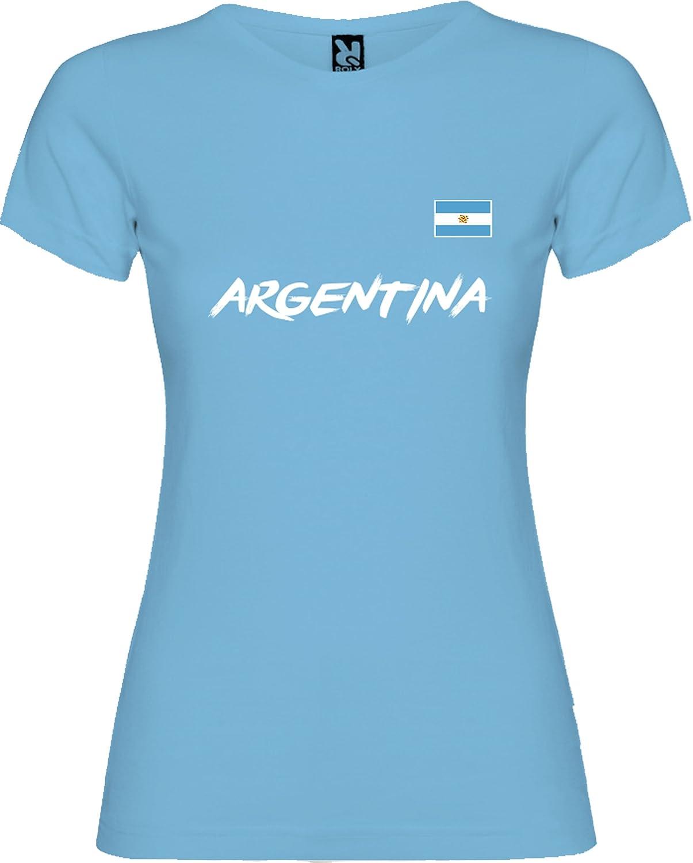 Lolapix Camiseta seleccion de fútbol Personalizada con Nombre y número. Camiseta de algodón para Mujer. Elige tu seleccion.Argentina: Amazon.es: Hogar