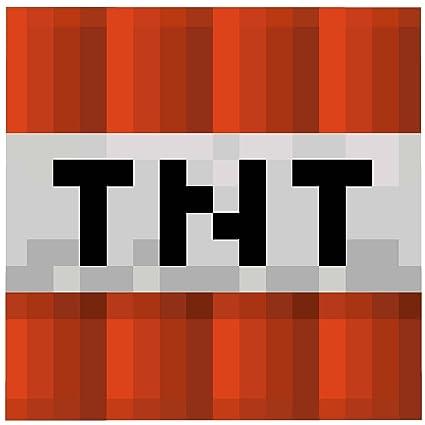 amazon com minecraft mojang tnt explosive block graphic super plush