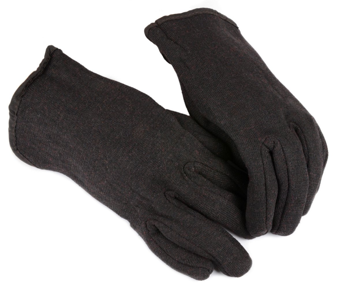 Forney 53310 Brown Jersey Lined Unisex Gloves, Small/Medium