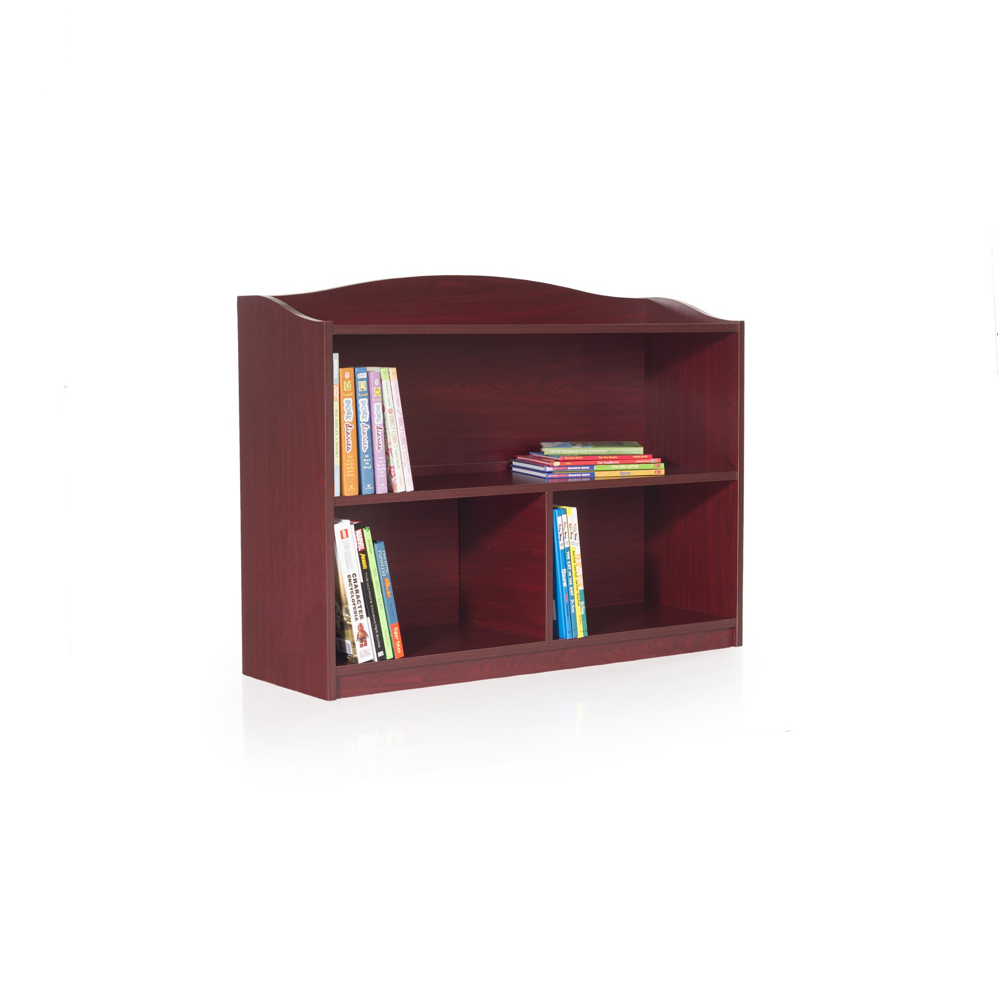 Guidecraft 3-Shelf Cherry Bookcase - Shelves, Home & Office Organizer Furniture, Book Display by Guidecraft (Image #1)