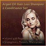 ArtNaturals Argan Hair Growth Shampoo & Conditioner Set- (2 x 16 Fl Oz / 473ml) - Sulfate Free - Treatment for Hair Loss, Thinning & Regrowth - Men & Women - Infused with Biotin, Argan Oil, Keratin, C
