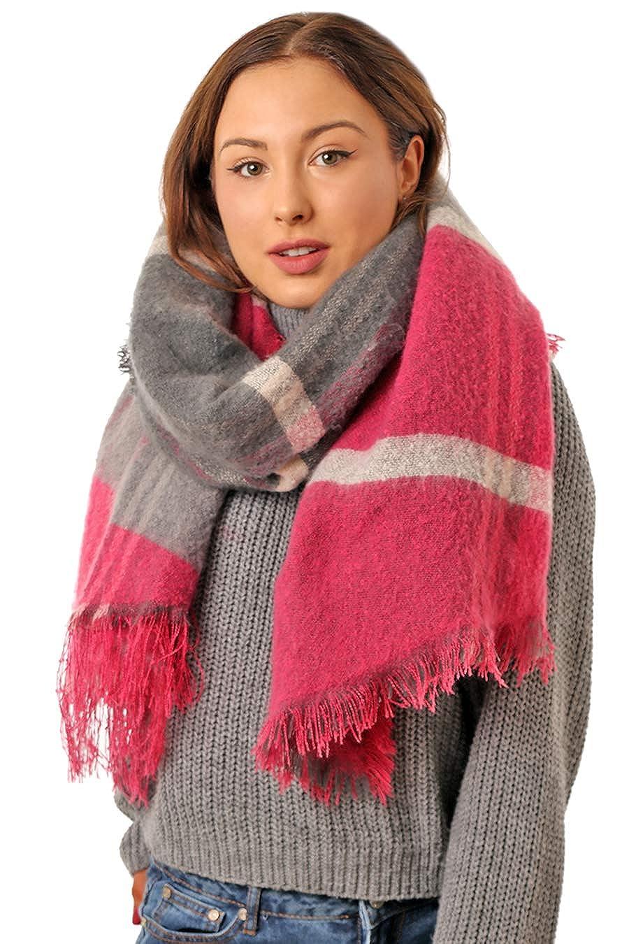 fdf1e3b2adba0 Super Soft Thick Warm Womens Blanket Scarf Winter - Plaid Tartan Scarf  Ladies - Scottish Gifts - Scarves for Women - Large Oversized Blanket -  Girlfriend ...