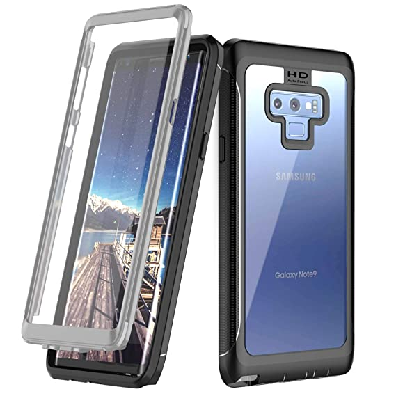 half off a31fe 826a2 Samsung Galaxy Note 9 Case, Singdo Built-in Screen Protector Cover 360  Degree Protection Rugged Clear Bumper Case for Samsung Galaxy Note 9