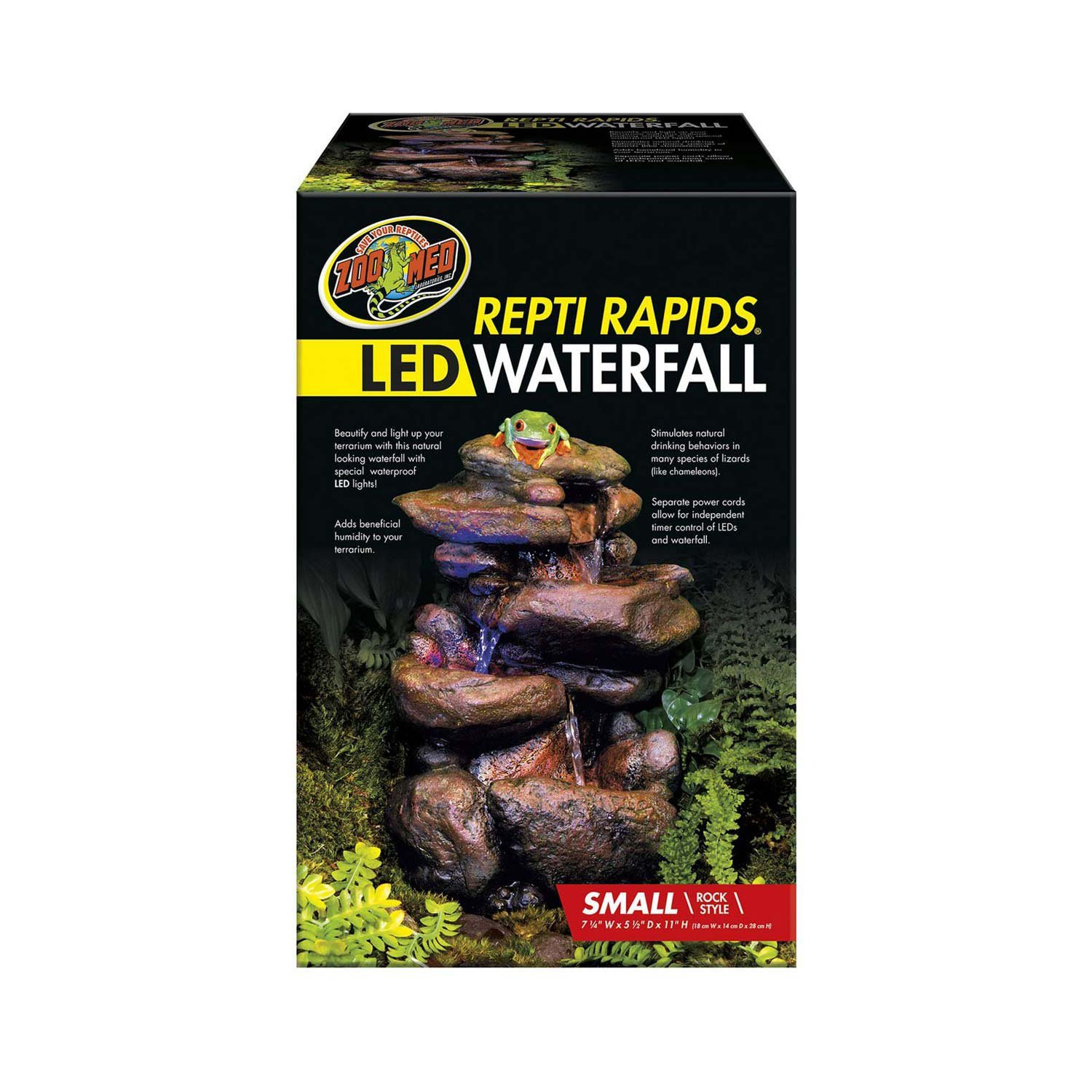 Zoo Med Labratories Repti Rapids LED Rock Waterfall, Small by Zoo Med