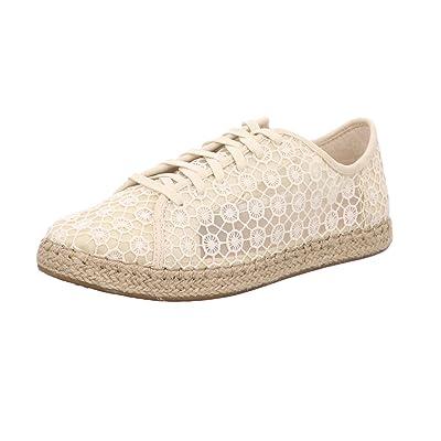 TOMS Women's Lena Mosaic Mesh Espadrille Sneakers US10 Cream | Walking