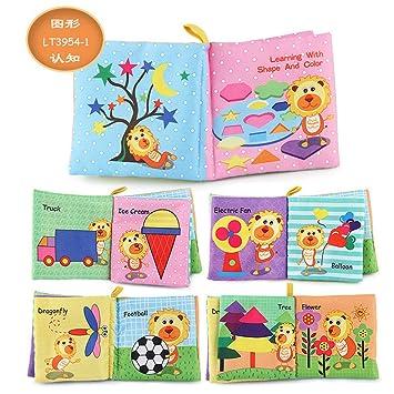 Amazon.com: Libros suaves Aibiner para bebés, libro de tela ...