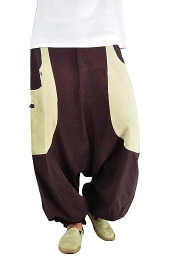 última venta a juego en color otra oportunidad virblatt Pantalones Harem Hombre con algodón cáñamo. Ropa ...