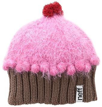 14d0623401ecb Neff Women s Fuzzy Cupcake Beanie-Strawberry