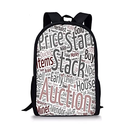"""046005ccc0d Video Game 12"""" Baby Toddler Kids 3D Print Canvas Backpack,Your  Warcraft Noob Gold"""